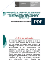 5 Reglamento Nacional de Licencias de Conducir