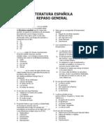 LITERATURA ESPAÑOLA - REPASO GENERAL
