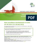 Influenza Surveillance Overview 02 Aug 2013