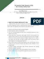 Model Quantity Order Ekonomis (EOQ) dan Inventory Safety Stock