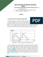 Model Statis Economic Production Quantity (EPQ)