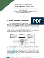 Perencanaan dan Implementasi Material Requirement Planning (MRP) Dalam Dunia Industri