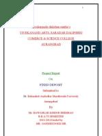 Project Report on Fixed Deposit in Devgiri Bank