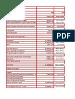 UTTARA BANK Formula Sheet