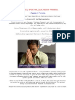 Scientific and Spiritual Analysis of Prayers