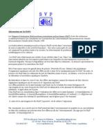 Information complémentaire sur les contaminants