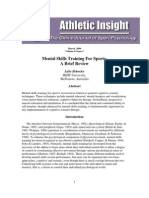 Mental Skills Training for Sports- A Brief Review - Luke Behncke