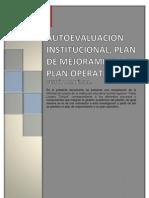 AUTOEVALUACIÓN INSTITUCIONAL, PLAN DE MEJORAMIENTO Y PLAN OPERATIVO..docx