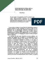 2. CONTEXTO SOCIOCULTURAL DE LA GENERACIÓN DEL 98 (1895-1905) - PEDRO RIBAS
