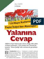 19 Mayıs Kutlamaları Faşist italya'dan Alınmıştır