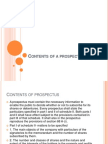 Contents of a Prospectus