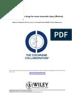 Antifibrinolytic Drugs for Acute Traumatic Injury Cochrane