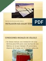 Instalación ACS SOLAR TÉRMICA