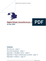 Digital Britain Unconferences Report