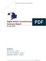 Digital Britain Unconferences Summary