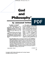 Levinas - God and Philosophy