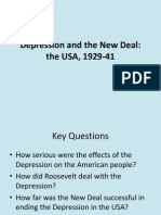 Section B Depression and the New Deal