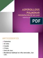 ASPERGILLOSIS PULMONAR PRESENTACIÓN DE UN CASO