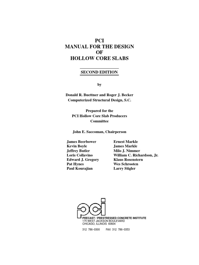 Pci manual for the design hollow core slabs1 concrete strength pci manual for the design hollow core slabs1 concrete strength of materials fandeluxe Gallery
