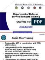 DOD Anti-Terrorism Level 1 Training