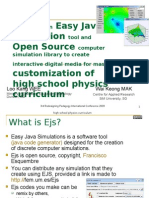 Leveraging on Easy Java Simulation tool and Open Source computer simulation library to create interactive digital media for mass customization of high school physics curriculum