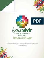 Plan Nacional Buen Vivir Ecuador