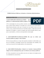 Rodada de Questões.CESPE.Serviços Públicos, Licitações e Contratos Administrativos