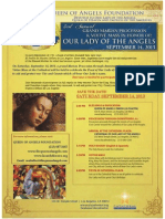 Los Angeles' 232nd Birthday Celebration in honor of Our Lady of the Angels (Nuestra Senora de Los Angeles)