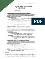 Verbos indicativo - tiempos, usos y ejercicios.pdf