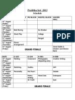 Pratibha Schedule