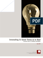 Innovating in Good Times and in Bad