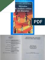 Wodak-Métodos de Análisis crítico del discurso