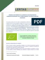 Reporte Alerta_cambios en Normativa Etiquetado Alimentos Ecolgicos en La Ue Jul 2010