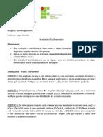 III Avaliação e Reposição de Eletromag I - 2013-1