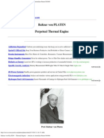 Baltzar Von PLATEN -- Thermal Engine -- Articles & Australian Patent 501680