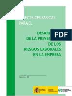 Directrices Desarrollo PRL en la Empresa