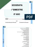 Geografia 6º ano 2011-1