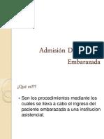 Admisión De Paciente Embarazada