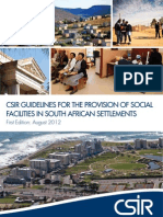 CSIR Guidelines for Social Facilities Provision