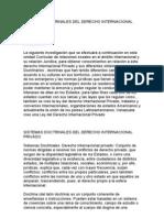 Sistemas Doctrinales Del Derecho Internacional Privado Tema II