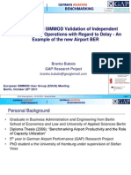Simulation and SIMMOD Validation of independent parallel runway operations with regard to delay - An example of BER airport - ESUG Meeting Berlin 2011