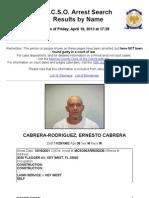 Ernesto Cabrera Rodriguez Mug Shot