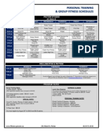 Fitness Powers Group Fitness & Training Schedules September 2013