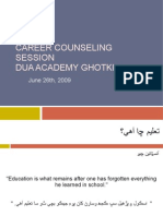 Career Counseling Presentation