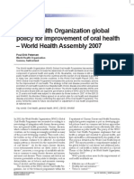 Petersen_WHO Global Policy for Improvement of Oral Health_2008