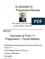 Form 11 Training-Auditor Controller Office