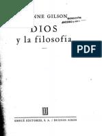 GILSON, Étienne. Dios y la filosofía