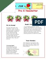 Prek May Newsletter