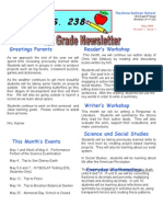 4th Grade May Newsletter