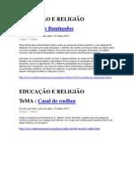 TEMAS MIDIA SEMA MASCARA EDUCAÇÃO E RELIGIÃO